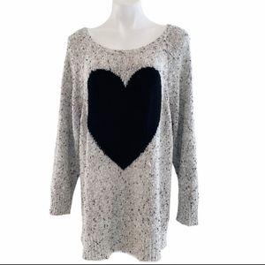 TORRID Size 5 Scoop Neck Gray Sweater
